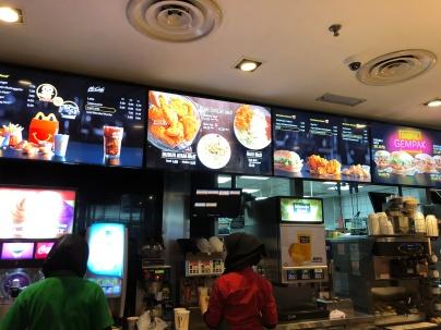 McDonalds Menu in KL